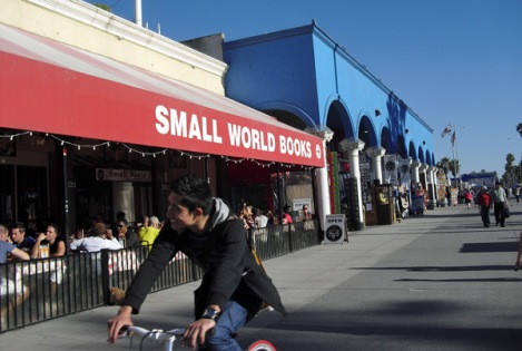 Small World Books on the Venice Boardwalk