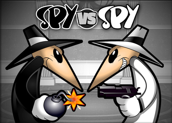 The Spy Vs. Spy Characters from Mad magazine