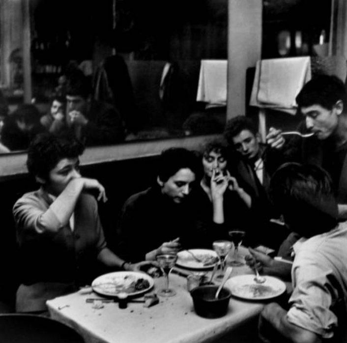 Paris Café Scene, 1950s