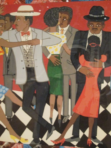 Detail from Faith Ringgold's Groovin'