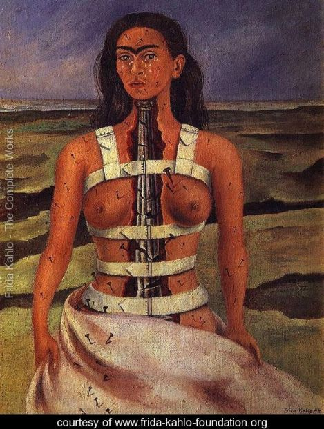 Frida's Self Portrait with Broken Column