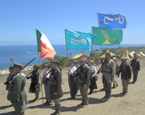 Military Re-Enactors at Old Fort MacArthur