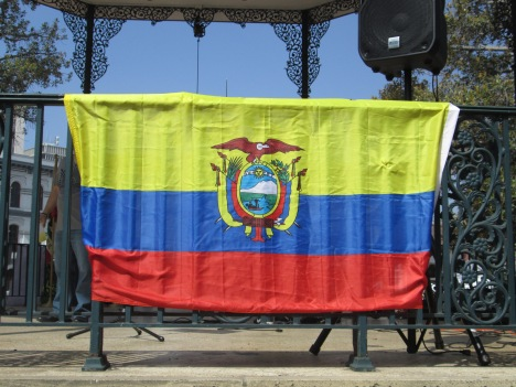 Flag at 18th Annual Taste of Ecuador Food festival