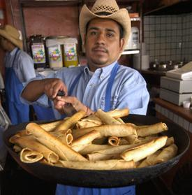 Making Taquitos at Cielito Lindo