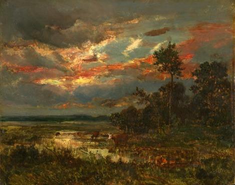 """Mare au Crépuscule"" (1850) by Theodore Rousseau"