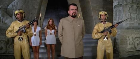 Moonraker's Hugo Drax (Michel Lonsdale) and Minions