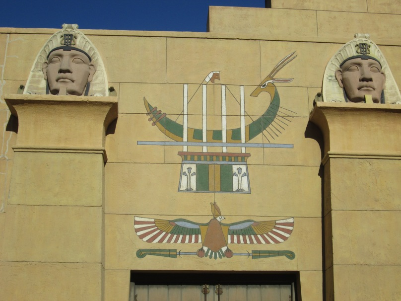 Part of the Painted Facade of Grauman's Egyptian Theater in Hollywood