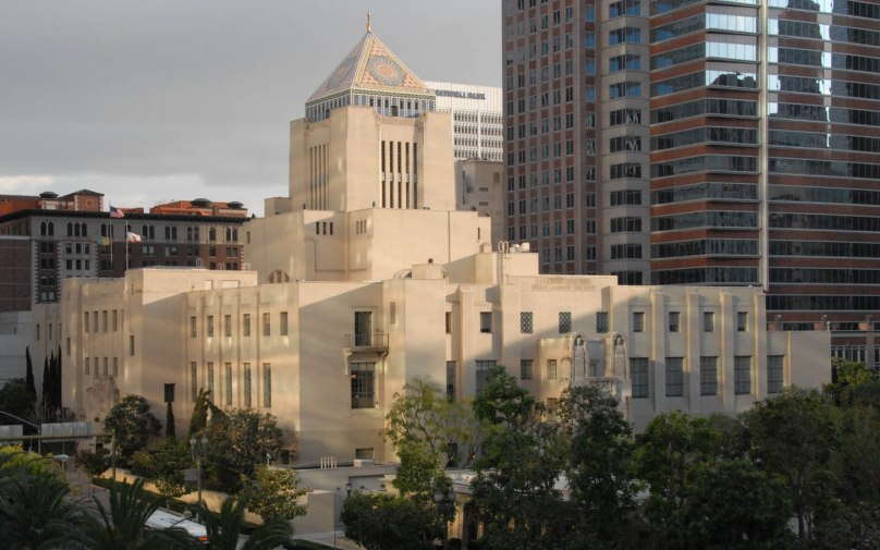 Los Angeles's Central Library on 5th Street & Hope
