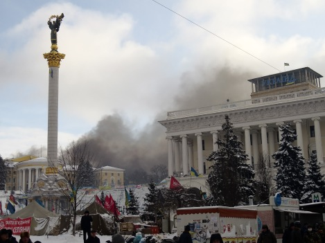 "Battle on January 10, 2014 at Kiev's ""Euromaidan"""
