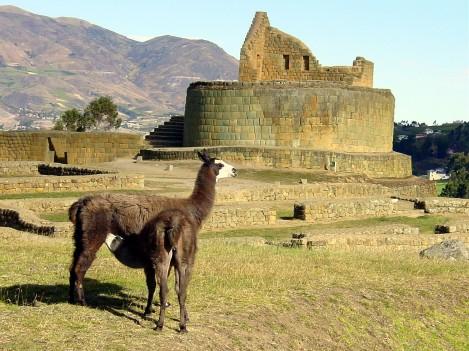 Inca Ruins at Ingapirca, Ecuador
