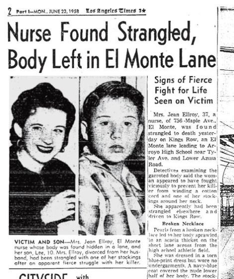James Ellroy, Age 10, with His Murdered Mother