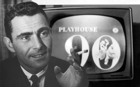 Rod Serling with Playhouse 90 Logo