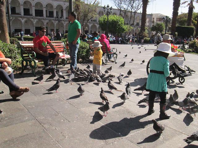 The Plaza de Armas in Arequipa, Peru