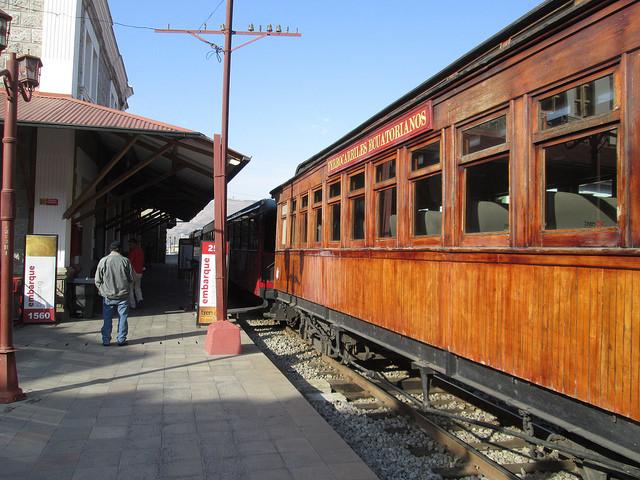 Old Rolling Stock on the Nariz Del Diablo Train