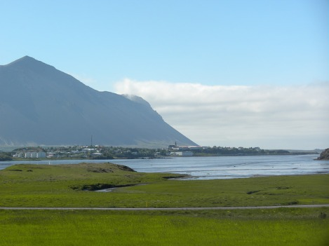 Borgarnes, Iceland, As Seen from Borg á Mýrum