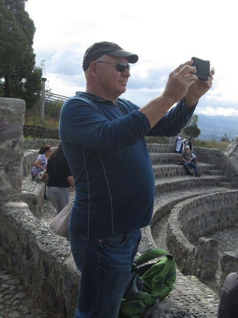 Dan at the Parque del Condors in Otavalo