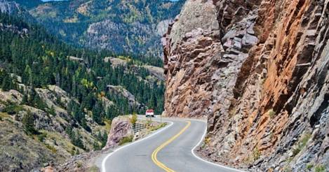 A Stretch of the Million Dollar Highway in Colorado