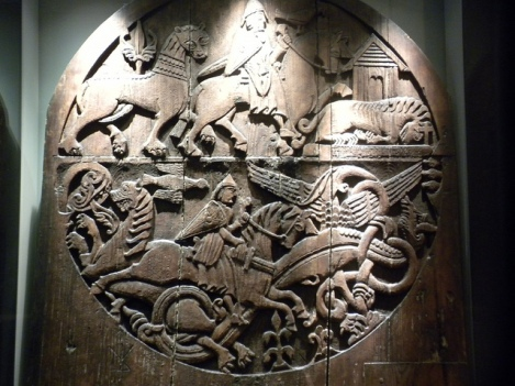 Carved Door at Reykjavík's National Mseum