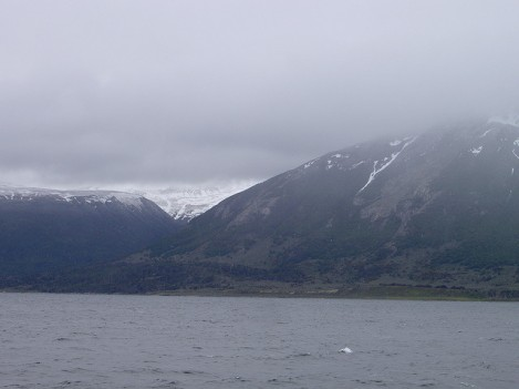 Looking Across the Beagle Channel Toward Isla Navarino