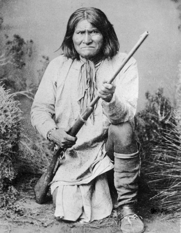 Chiricahua Medicine Man and War Chief Geronimo of the Chirciahua Apaches