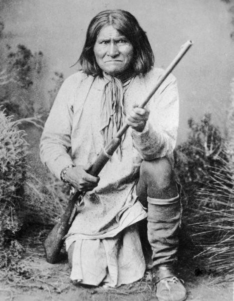 Chiricahua Medicine Man and War Chief Geronimo of the Chirciahua Apaches