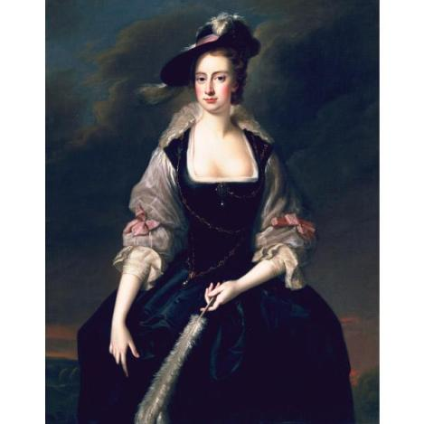 Lady Frances Courtenay, Painted by Thomas Hudson