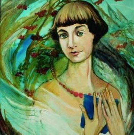 2005 Painting of Marina Tsvetayeva by Aida Lisenkova-Hanemaayer