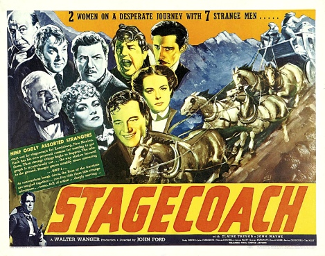 Poster Emphasizing the Ensemble Acting in Stagecoach