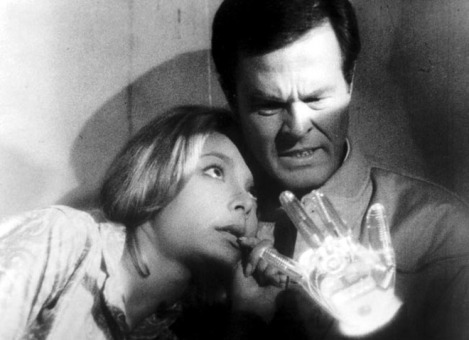 "Robert Culp and Arlene Martel in ""The Demon with a Glass Hand"""