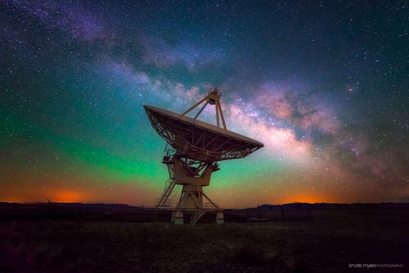 One of 27 Giant Radio Antennas at the VLA
