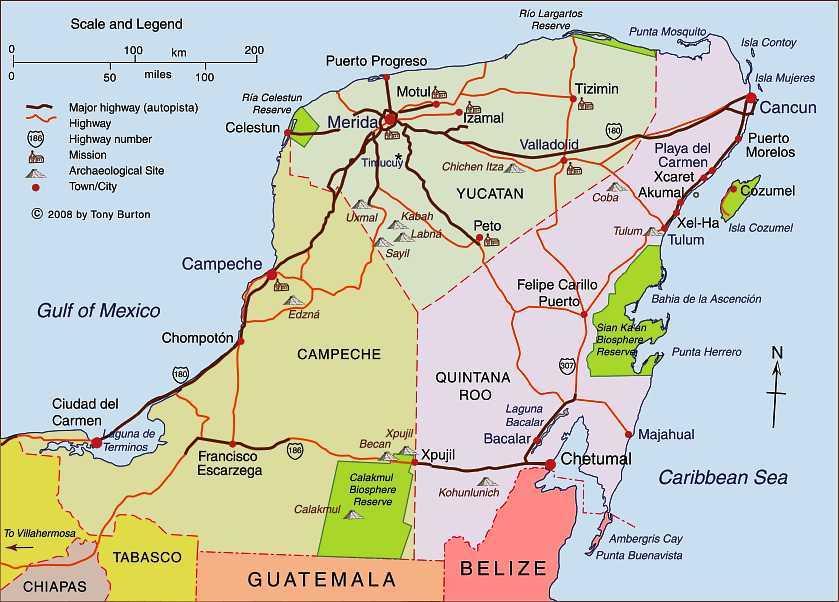 Carte Yucatan Quintana Roo.Unfinished Business With The Maya Tarnmoor